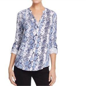Joie Soft Dane Snake Print Button Down Shirt